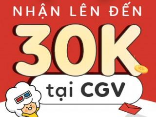 Khuyến mãi lên đến 30,000đ cho thành viên mới CGV