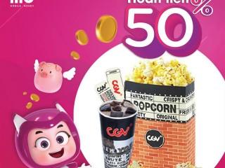 Momo hoàn tiền 50% khi mua vé CGV ngày 1/11