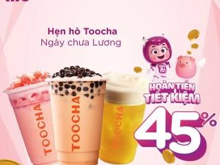 Toocha hoàn tiền đến 45% khi thanh toán Momo