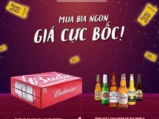 [VinID] Giảm tới 30% khi mua bia Budweiser và Hoegaarden qua Scan&Go