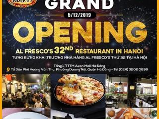 [Al Fresco's] Khuyến mại khai trương nhà hàng tại AEON Mall Hà Đông