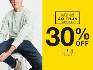 GAP giảm 30% áo thun tay dài