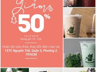 Re - Opening Bobapop Nguyễn Trãi - Giảm giá 50% toàn bộ menu