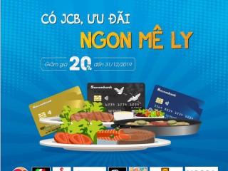 [Sacombank] Giảm 20% thanh toán tại nhà hàng cho chủ thẻ JCB