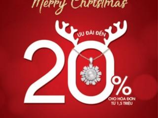 [PNJ] Ưu đãi lên tới 20% trang sức Giáng Sinh