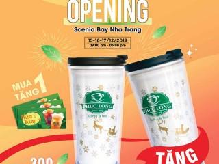 Phúc Long Scenia Bay Nha Trang tặng Coupon mua 1 tặng 1 và ly giữ nhiệt
