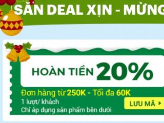Mã hoàn tiền 20% cho thực phẩm khô