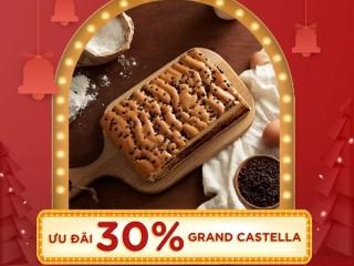 Bánh bông lan Grand Castella giảm ngay 30% khi lấy mã trên app VinID
