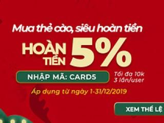 [Sendo] Mã hoàn tiền nạp thẻ điện thoại đến 30% với ví Senpay