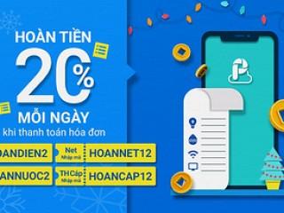 GIẢM NGAY 20% hóa đơn điện, nước, Internet.. với AirPay