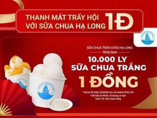 [Nowfood] 10.000 ly sữa chua trắng chỉ 1Đ