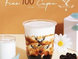 [The Alley] Free 100 ly Sữa chua trân châu đường đen và mua 1 tặng 1
