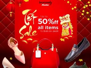 [BATA] Giảm giá tới 50% sản phẩm giày túi và bộ sưu tập mới đón Tết