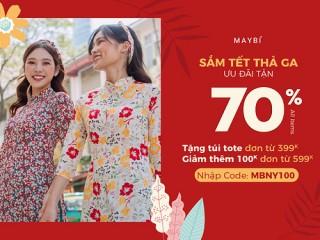[Maybi] Giảm tới 70% sản phẩm thời trang đón Tết