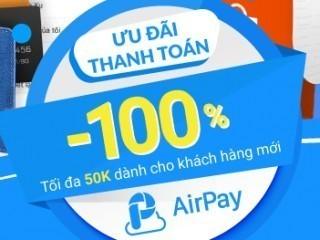 Mã hoàn tiền 20% khi nạp thẻ cào qua ví điện tử Airpay tại shopee