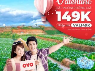 [OYO] Valentine đặt phòng đồng giá chỉ 149K