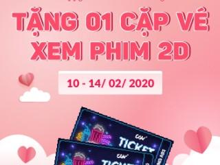 [CGV x Freelancer] Ưu đãi Valentine - Tặng 1 cặp vé CGV cho hóa đơn từ 800,000đ