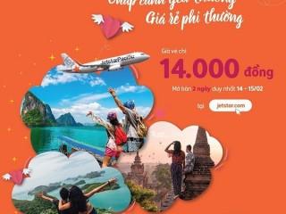 Jetstar Pacific ưu đãi vé bay chỉ 14K trong 2 ngày 14-15.02