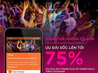 Mua gói Tinder Gold và Tinder Plus trên Codashop giảm 75%