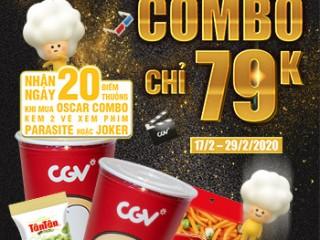 [CGV] Combo 2 nước + 2 snack chỉ 79K đến 29/02