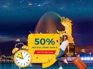 Vietnam Airlines giảm 50% vé nội địa và Đông Nam Á đến 21/02