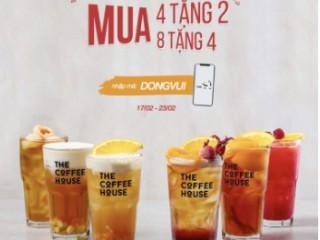 The Coffee House khuyến mãi mua 4 tặng 2 mua 8 tặng 4
