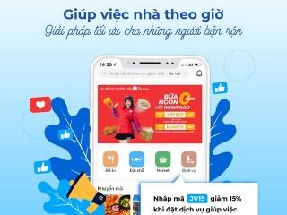 Mã giảm 15% khi đặt dịch vụ giúp việc theo giờ trên app Now