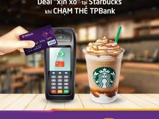 Giảm 10K tại Starbucks cho chủ thẻ TPBank Visa Contactless