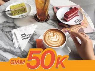 The Coffee House khuyến mãi giảm 50k cho đơn hàng online