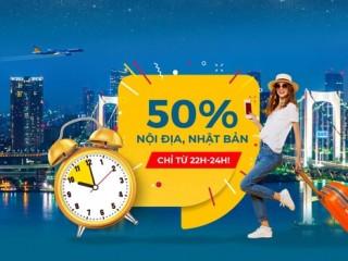Vietnam Airlines giảm 50% Mid-night Sales vé nội địa và Nhật Bản