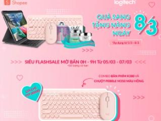 Mã giảm giá lên đến 300k khi mua sản phẩm chuột bàn phím tai nghe Logitech