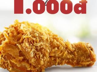 KFC khuyến mãi chỉ 1K/1 miếng gà